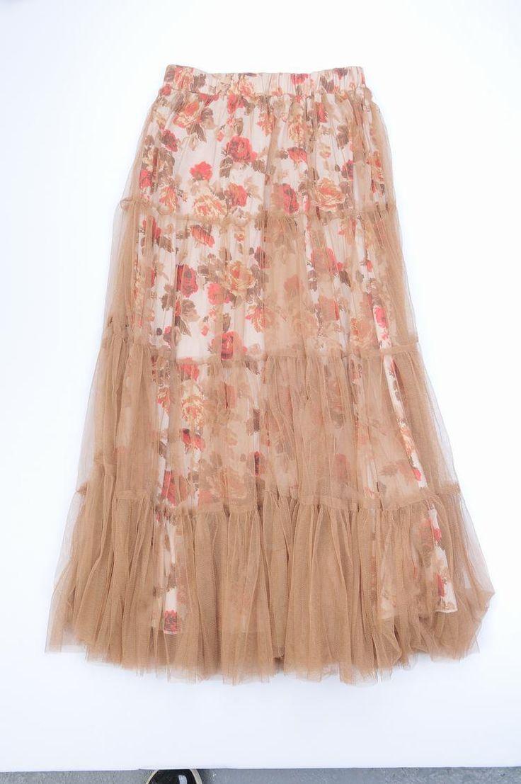 Two layers chiffon bohemian skirts