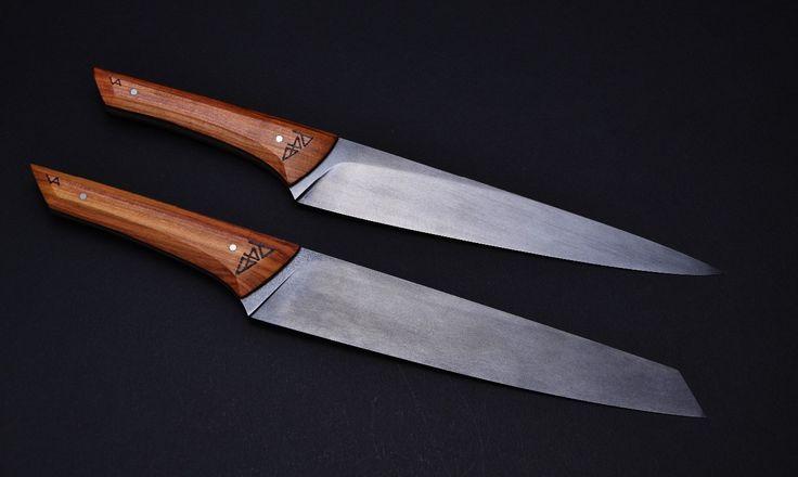 Anton Vadovič Echtkovář kuchyňské nože pro restauraci Entrèe v Olomouci RWL 34 a N695 patinováno