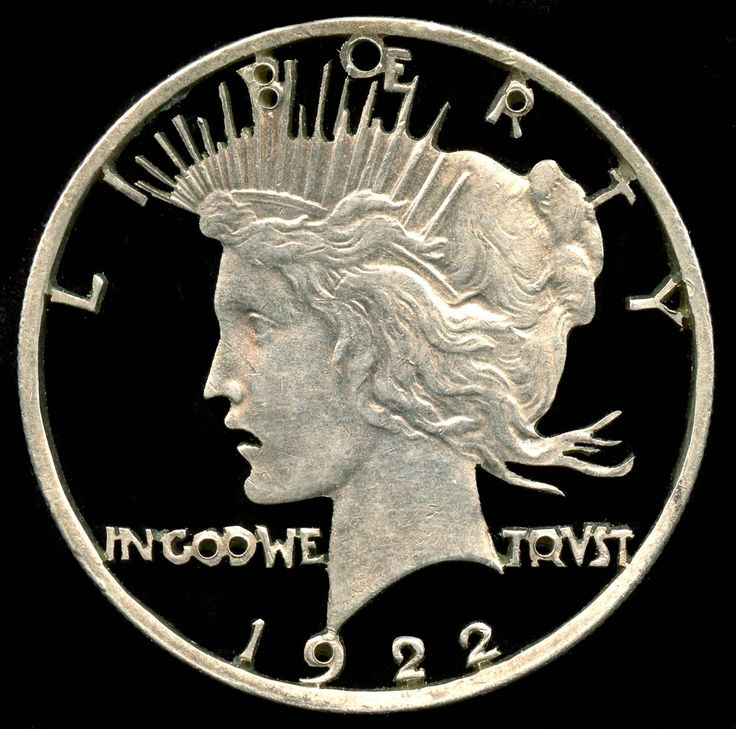 The latest addition to my #etsy shop: 1922 Peace Dollar Cut Coin Jewelry http://etsy.me/2EaVs6R #jewelry #silver #unisexadults #jakesmp