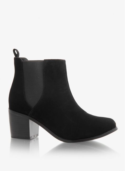 Botki Plain Chelsea Boot Black Suede