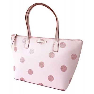 Kate Spade Hani Haven Lane Pink Glitter Tote Bag