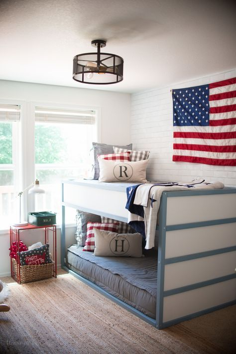 Vintage American Boys Shared Room Beddys