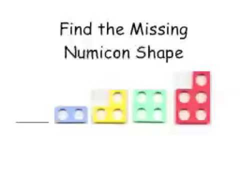 Finding the missing shape - good for reinforcement of number - what comes before/ after, sequences etc.