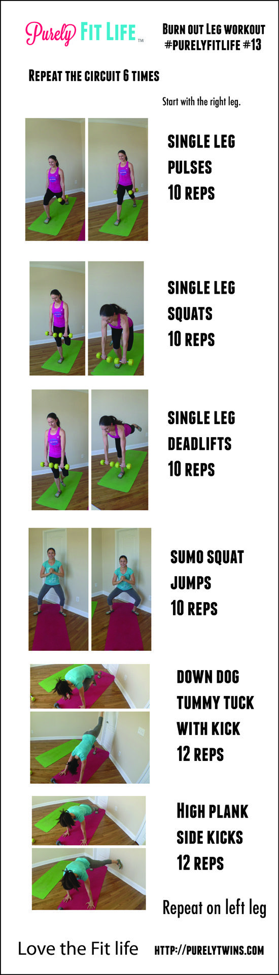 burn out leg workout with balance #fitfluential #purelyfitlife 13