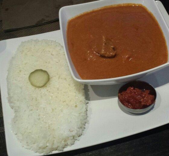Mafé boeuf Riz et Piment rouge - Restaurant africain Orinafood