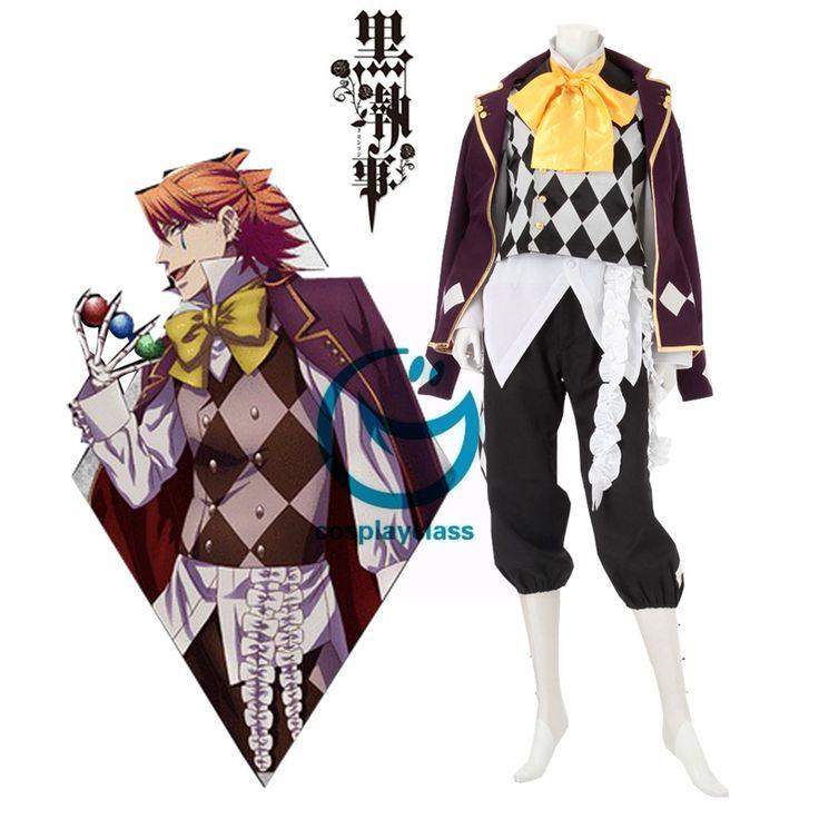 Black Butler Kuroshitsuji Noah's Ark Circus Joker Cosplay Costume  #BlackButler #Joker #Cosplay #Costume