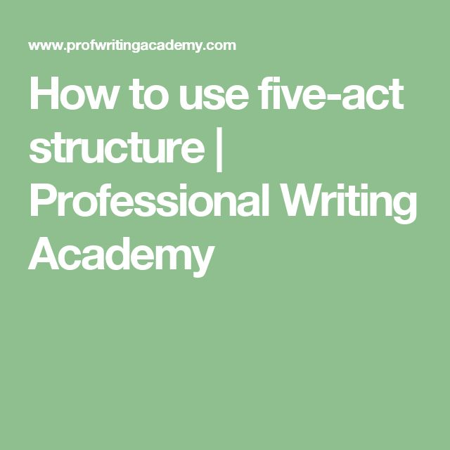 How to use five-act structure | Professional Writing Academy