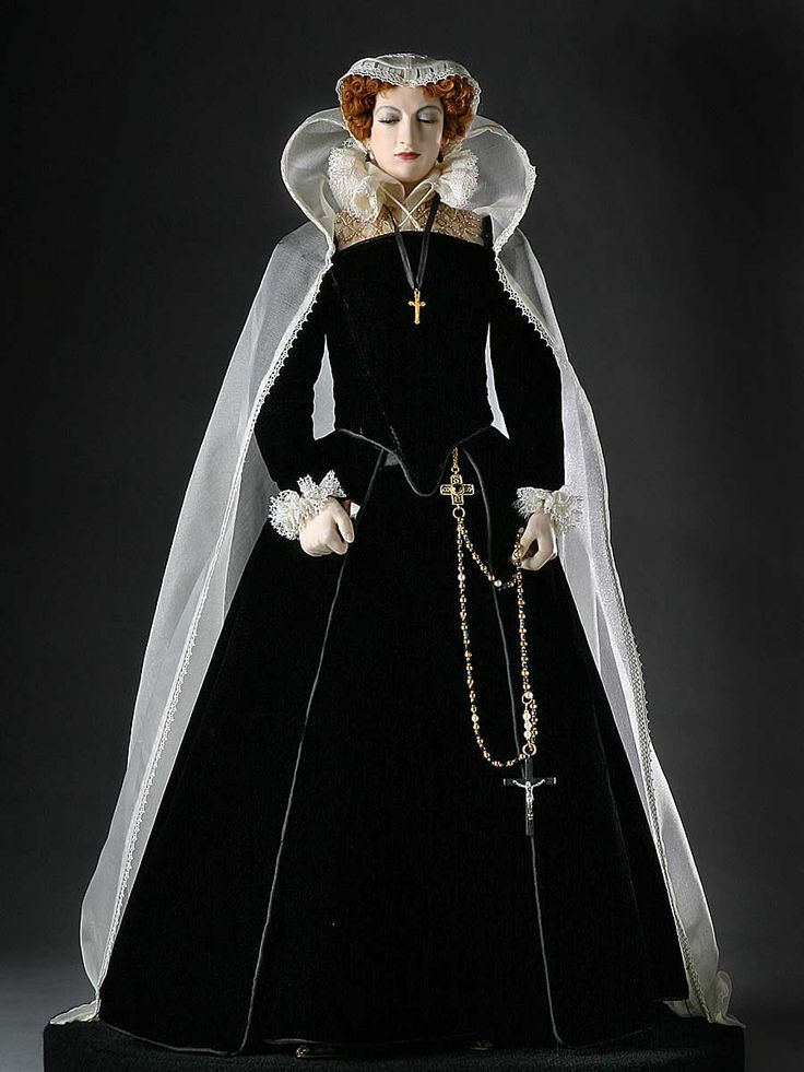 Full length color image of Mary Stuart aka. Mary Queen of Scots, by George Stuart.