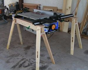 Foldable Saw Horses Made In The Usa Will Hold A Table Saw