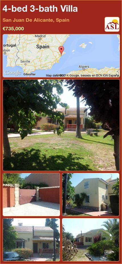 4-bed 3-bath Villa in San Juan De Alicante, Spain ►€735,000 #PropertyForSaleInSpain