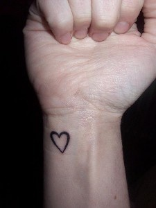 Heart wrist tattoo. Copycats! Me and Nicole had it first!