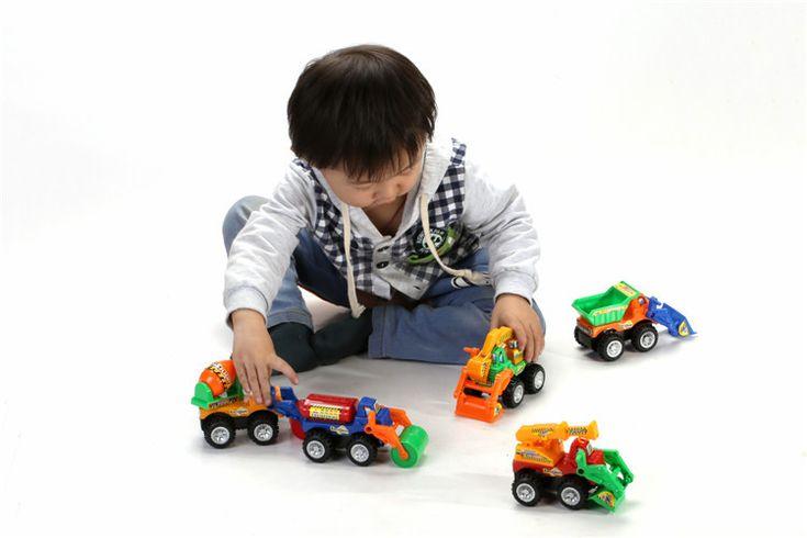 5pc/ lot Children Whole set Babu Engineering vehicle toys/ Kids Boys 12*9cm traffic vehicle with truck Forklift excavator toys