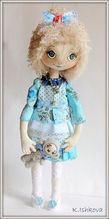 Textile Fantasy Cloth Doll Poly Fairy SOLD by ArtDollsByKseniya
