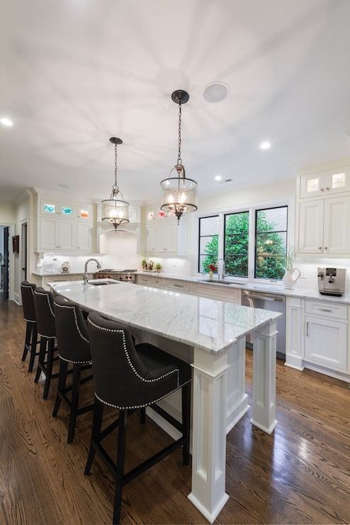 Andrew Roby General Contractors - kitchens - angled stove, corner stove, corner kitchen hood, corner stove ideas, white kitchen hood, wolf s...