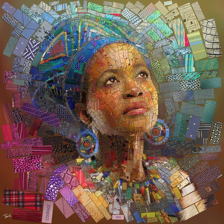 Греческий художник Charis Tsevis сделал цифровые принты в мозаичном стиле для африканского ресторана