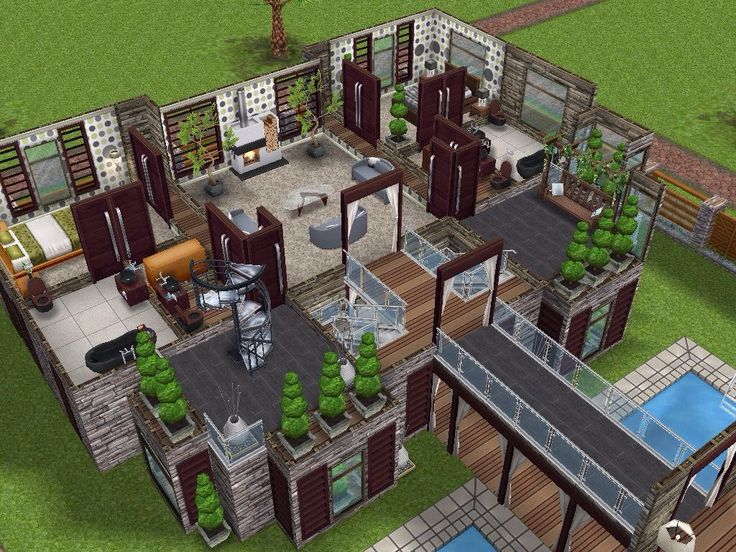 House 66 level 2 sims simsfreeplay simshousedesign my for Sims house layouts
