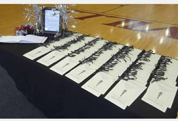 NJHS program and book signing table