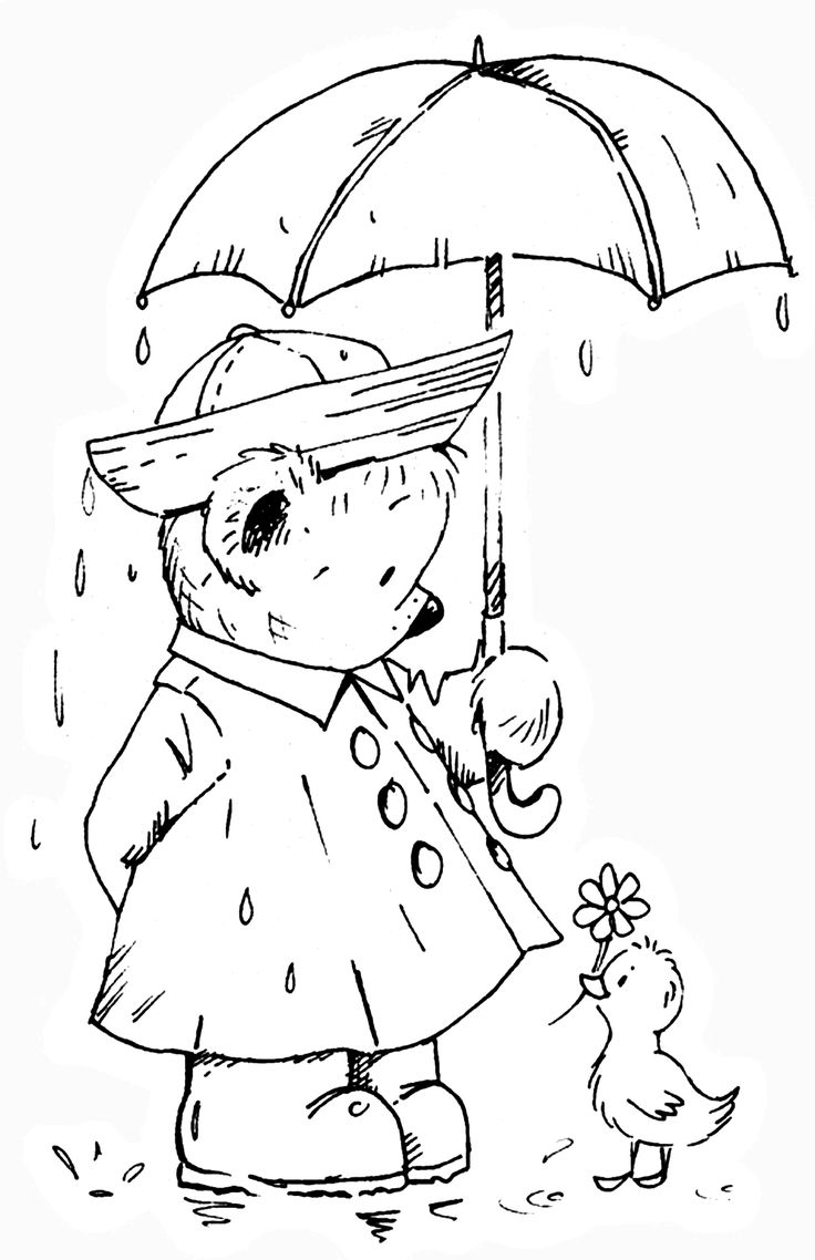 Colouring pages rain - Pb Sunshine In The Rain