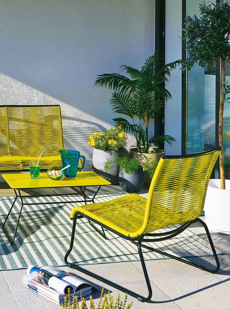 Salon de jardin SCOUBI - Alinéa - Jeu concours Pinterest - A gagner : 500€ en bons d'achat ! Jouez sur : https://www.pinterest.com/alinea/jeu-en-exterieur/