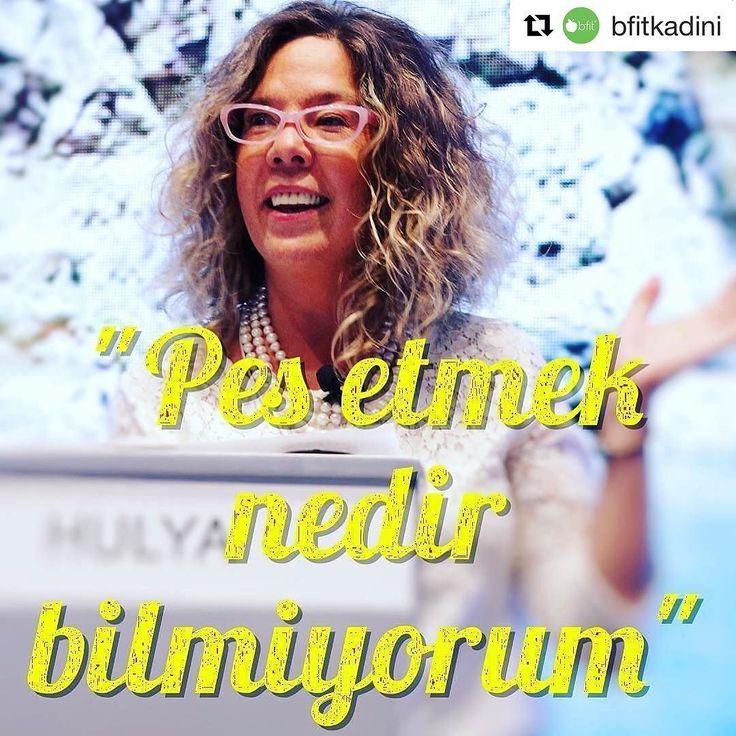 """#Repost @bfitkadini (@get_repost)  Haftaya yüzlerce kadına ilham veren iş kurdurtan kadının gücüne inanan kurucumuz Sevgili Bedriye Hülya'nın sözüyle başlıyoruz. """"Pes etmek nedir bilmiyorum""""  Günaydın! #Repost @bizbizze (@get_repost)  Pazartesi İlhamı... Pazartesilerden kaçış mümkün olmadığına göre haftaya bir fincan ilhamla başlayalım. Joe Biden'ın örnek gösterdiği sosyal girişimci Bedriye Hülya karşımıza ne zorluk çıkarsa çıksın pes etmemek gerektiğine inanıyor. Herkese güzel bir hafta…"""