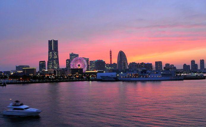 大さん橋からの夜景 夕景 みなとみらい 横浜 絶景スポット