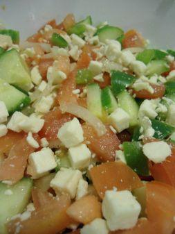 Albanian Tomato and Cucumber Salad