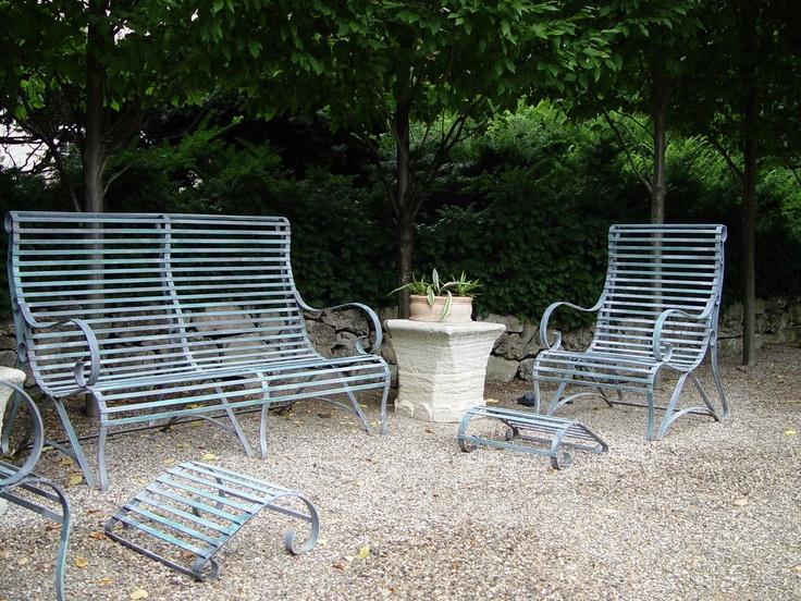 Maintenance Free Garden Bench Part - 18: Steel Scroll Garden Furniture