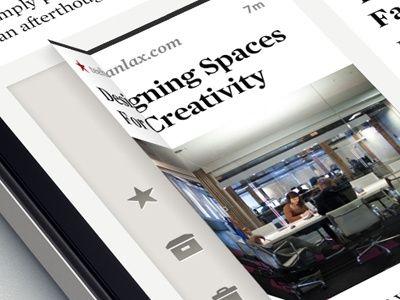 Interface mobile  #flip  #menu