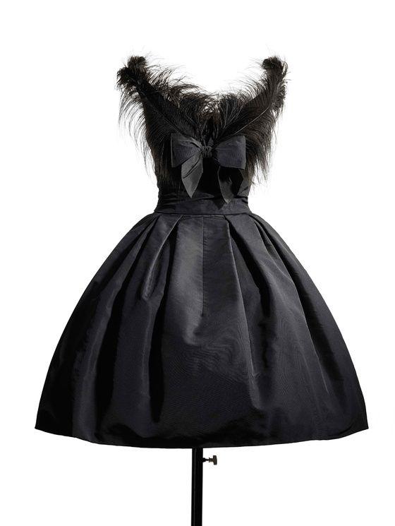"1957 - Christian Dior dress, ""Fuseau"" line"