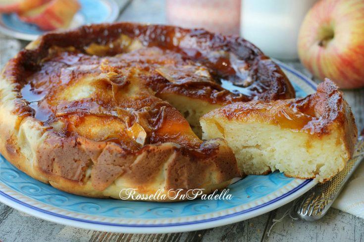 Torta di mele caramellata