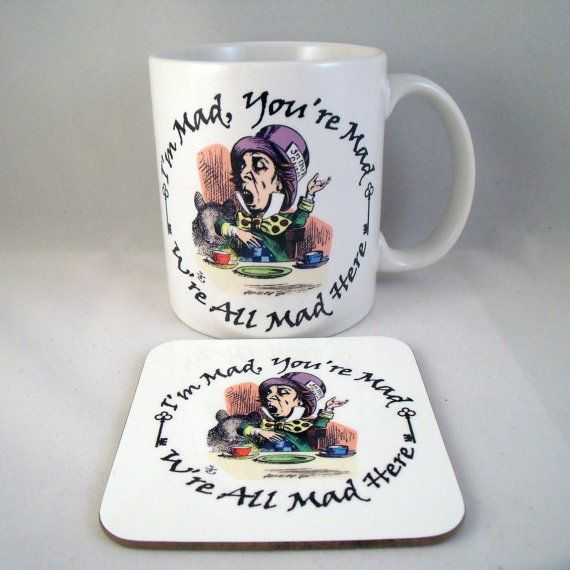 Alice In Wonderland Mug The Mad Hatter  by PurplePandaPrints