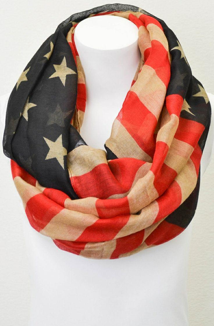 American flag scarf // patriotic