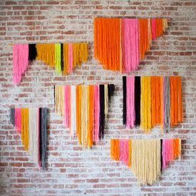 Learn how to make this bold and modern yarn banners on the Creativebug blog.