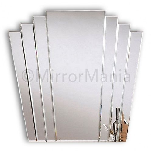 Deco Bathroom Mirror: Trinity Art Deco Fan Mirror