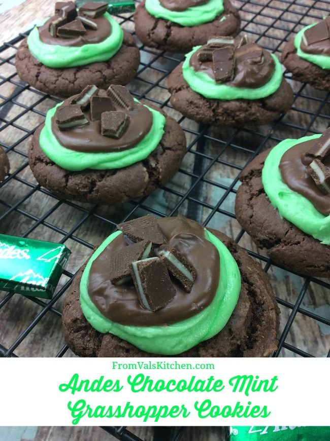 Andes Chocolate Mint Grasshopper Cookies Recipe From Val's Kitchen