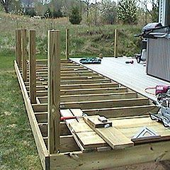 How To Install 4x4 Posts For Deck Handrails Framing