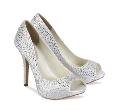 Paradox Pink Luxe Diamante Wedding Shoes