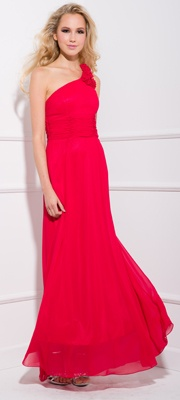 2013 Prom Dresses - Red One Shoulder Prom Dress