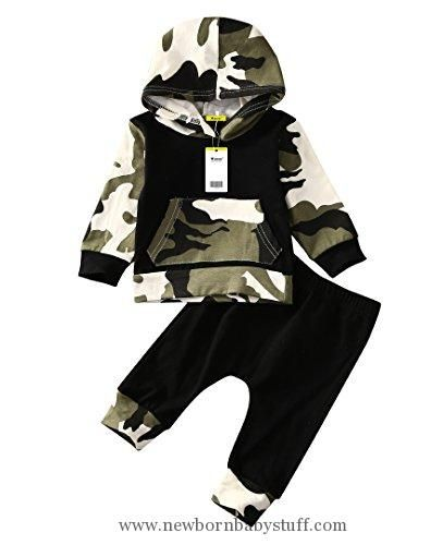 Baby Boy Clothes Infant Baby Boys Camouflage Hoodie Tops +Long Pants Outfits Set Clothes 0-3Y (6-12 Months, Camouflage)