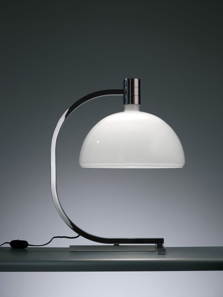 Lighting Design // modern table lamp with structure in chrome metal // AS1C | NEMO