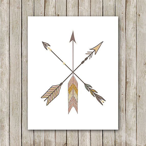 Arrow Print 8x10 Instant Download Tribal by MossAndTwigPrints, $5.00
