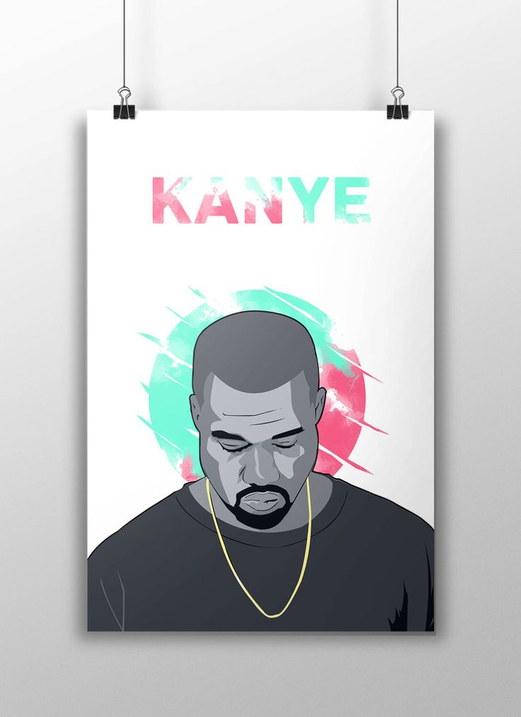 Kanye West Poster by ElboPosters on Etsy https://www.etsy.com/listing/249694287/kanye-west-poster