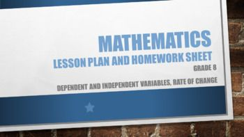 Lesson Plan, Worksheet and memo