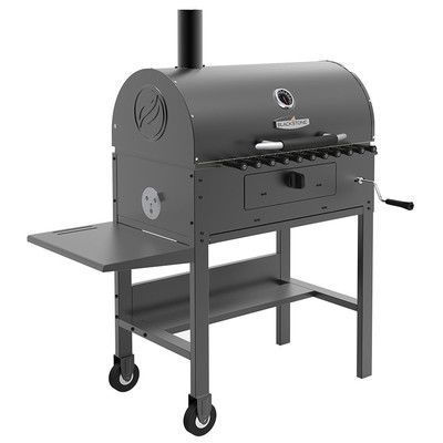 "Blackstone 45"" Kabob Charcoal Grill with Side Shelves"