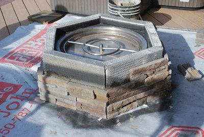 How to build a propane fire pit! Would love this in my backyard!!! Just add a little fire glass and it would be all set!