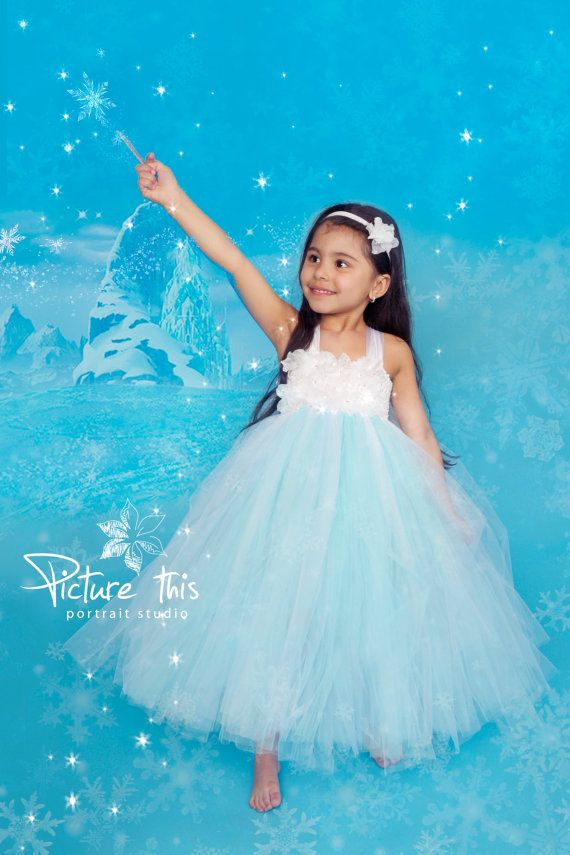 Frozen tutu dress Frozen party dress Elsa dress by TrendyBambini, $60.00