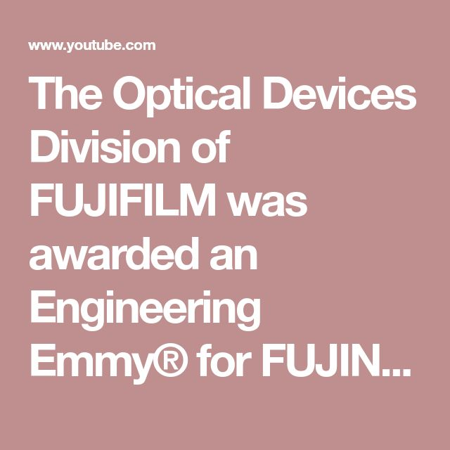 "The Optical Devices Division of FUJIFILM was awarded an Engineering Emmy® for FUJINON ""4K Cine Zoom Lenses providing imagery in television"" by the Television Academy. Here's a sneak peek at the video that played at the Academy's October 25, 2017 Engineering Awards ceremony at Loews Hollywood Hotel, during which the company received this honor"