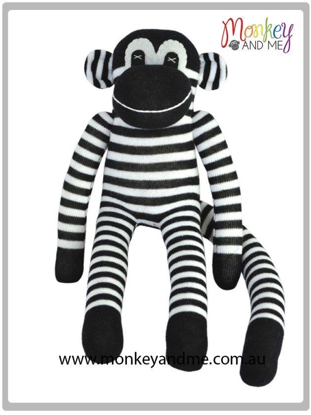 Bandit the Sock Monkey  Adopt over at http://monkeyandme.com.au #sockmonkeys #gifts #toys