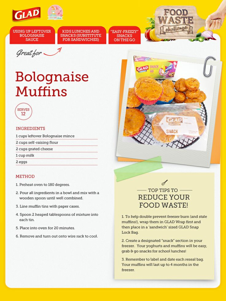 Did you know that you can turn leftover bolognaise sauce into muffins?