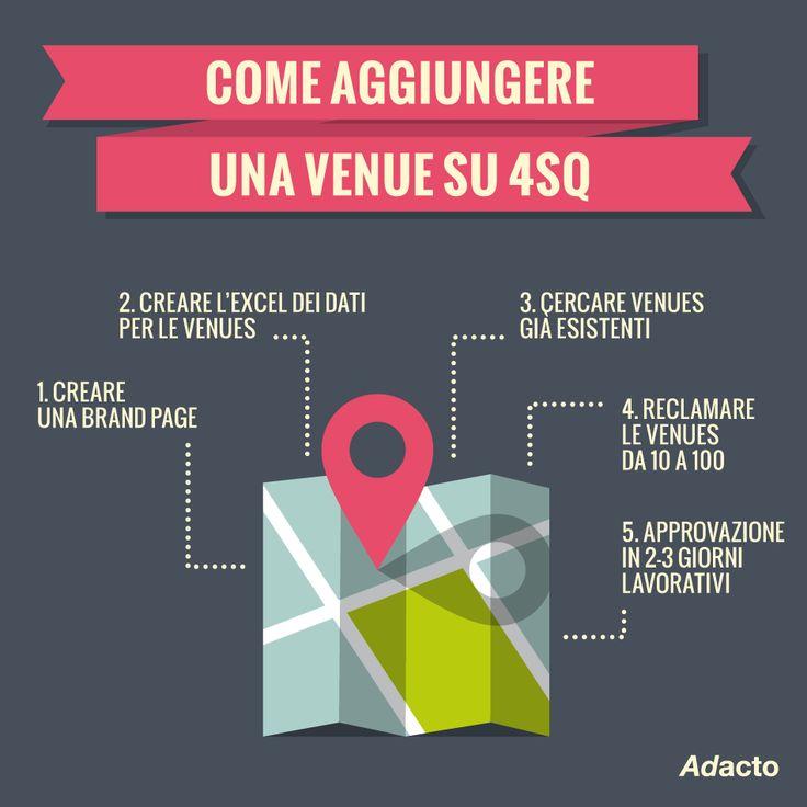 Il tuo brand è presente su Foursquare? Ecco come aggiungere e reclamare una Venue Business #foursquare #4sq #geolocal #smm #adacto #tips4business